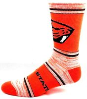 Oregon State Beavers NCAA Orange RMC Black Crew Socks