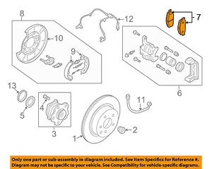 Infiniti NISSAN OEM 09-13 FX50 Brake-Rear Pads D4060JL00K