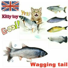 More details for electronic jumping flippity fish toy pet cat usb charging catfish simulation dog
