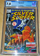 Silver Surfer #8 CGC 7.0 (1st App Flying Dutchman, Mephisto App) (WHITE PAGES)!!