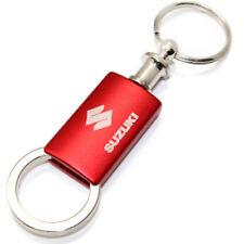 Suzuki Red Logo Metal Aluminum Valet Pull Apart Key Chain Ring Fob