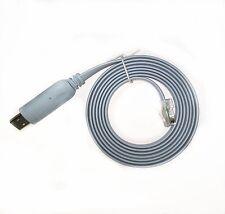 USB RJ45 RS232 Rollover Console Cable FTDI Windows 8,7,replace Cisco 72-3383-01