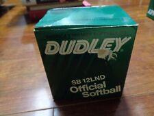 Nib Lot Of Two 2 Softballs: Dudley Sb 12Lnd Official Softballs