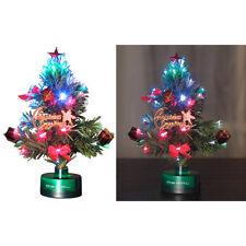 Mini Weihnachtsbaum: LED-Weihnachtsbaum mit Glasfaser-Farbwechsler