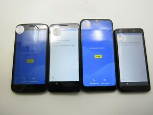 Lot of 4 Assorted Motorola AT&T Check IMEI GLC AD-1299