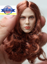 1/6 Black Widow Scarlett Johansson Head Sculpt For Hot Toys Phicen Figure USA