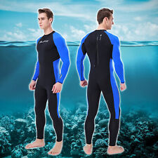 Ultra-thin WetSuit Full Body Super stretch Diving Suit Swim Surf Snorkeling Blue