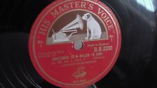 Arthur Rubenstein - 78rpm single 12-inch – His Master's Voice #D.B. 8330