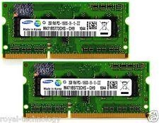 4GB (2x2GB) PC3-10600S DDR3 Sodimm RAM SO-DIMM de memoria portátil Macbook 1333 Mhz