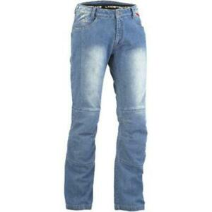 Lindstrands Wrap Aramid Motorcycle Jeans Blue Size XL UK 38 Long Leg RRP £119
