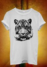 Leopard Tiger Cat Animal Printed Men Women Unisex T Shirt Tank Top Vest 1055