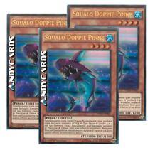 3x SQUALO DOPPIE PINNE • (Double Fin Shark) • Ultra R • DUSA IT001 • Yugioh!