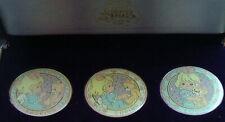 Set Of 3 Vintage Commemorative Precious Moments Medallion Coin Butcher Coa 1994
