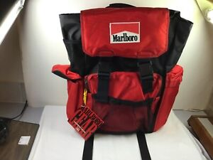 Vintage Marlboro Backpack Official Gear Outdoor Hiking Logo New With Tags