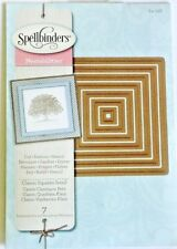 Small Classic Squares Spellbinders Nestabilities Square Die Set S4-128 NEW!