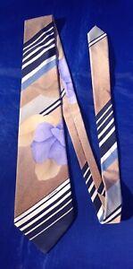 True Vintage NWOT LEONARD Floral Silk Tie M. I. Italy
