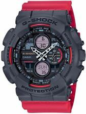 Casio GA-140-4A G-Shock Grey Dial Red Resin Men's Watch