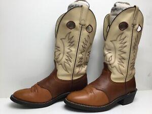 VTG MENS UNBRANDED BUCKAROO COWBOY BROWN BOOTS SIZE 8.5 D