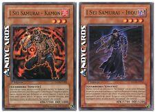 I Sei Samurai - Irou + Kamon ☻ Comune ☻ STON IT012 IT008 ☻ YUGIOH ANDYCARDS