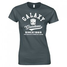 """GUARDIANS OF THE GALAXY """"NEW COLLEGE LOGO"""" LADIES SKINNY FIT T-SHIRT"""
