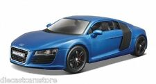 "MAISTO AUDI R8 SATIN METALLIC BLUE ""EXOTICS"" 1/24 DIECAST MODEL CAR 32504BL"