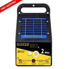 Solar Low Impedance Electric Fence Charger 2 Mile Range Weed Free Fence