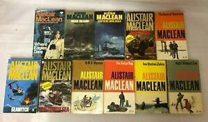 11x Vintage Alistair Maclean Books The Satan Bug Ice Station Zebra Bear Island