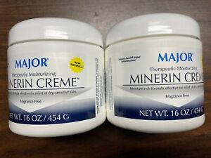 Major Therapeutic Moisturizing Minerin Creme Fragrance Free  2ea. 16 oz. tubs