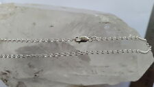 925 Italian Made Solid 925 Sterling Silver 2mm belcher/ rolo chain 40 cm