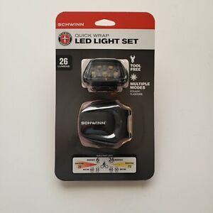 Schwinn 26 Lumen Bicycle LED Light Set Quick Wrap Front And Rear