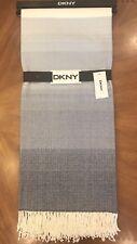 "DKNY ""Plaza Stripe"" 50"" x 60"" Soft Throw Blanket with Fringe - Indigo"