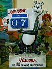 "NEW VTG 1972 HAMM'S BEER BEAR 3-D "" CALENDAR MOTION "" BAR TAVERN SIGN PUB STATUE"
