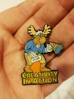 Creativity In Action Enamel Pin Pinback Lapel Moose MI Ootm 2015