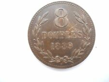 8 DOUBLES COIN 1889 ))