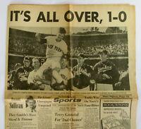 1962 YANKEES WIN WORLD SERIES Newspaper San Francisco Examiner Oct 17 Won Giants