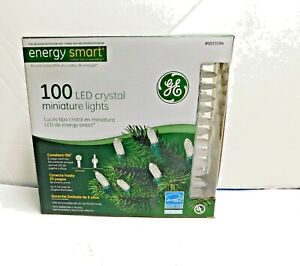 100 Led crystal miniature lights GE Energy Star New In Box
