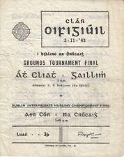 GAA 1963 Grounds Tournament Final Galway Dublin Gaelic Football