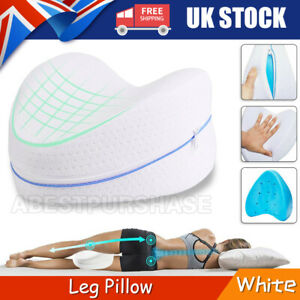 Memory Foam Leg Pillow Orthopaedic Firm Back Hips and Knee Support Cushion UK