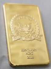 Fort Knox Gold Bar Donald Trump Autograph God we Trust US Americana President UK