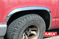 FTCH207 88-98 Chevy CK Pickup GMC Sierra w/o side moldings Stainless Fender Trim