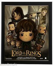 FRAMED LORD OF THE RINGS FELLOWSHIP OF THE SIGNED ARIST MOVIE POSTER HOBBIT KIDS