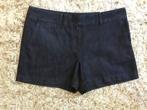 Ann Taylor Riviera navy blue denim jean shorts size 8 ( M L ) MINT! NWT Summer