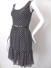 REVIEW  Size 6 US 2  Sleeveless Polka Dot Shift Dress with Belt rrp $259.95