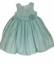 Jessica Ann Girls Dress Size 6X Layered Fancy Party Mint Green Sash Lined