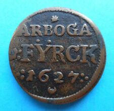 SUEDE / Sweden - Gustav II Adolf (1611-1632) - 1 fyrk 1627 Arboga