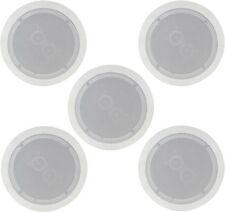 """5x Blanc En Plafond Haut-parleurs double haut-parleurs Easy Fit 50W+50W 6.5"""" 16.5 cm 952.537"""
