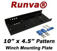 "Winch Mounting Plate (Max 12000lbs) Universal Pattern 10"" x 4.5""  IST-600+QC50"