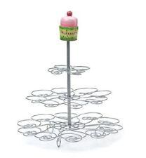 Three-Tier Cupcake Tower My Sweet Treat  Lisa Kaus Demdaco stainless steel