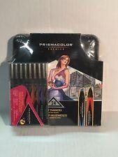 Prismacolor Double Ended Chisel Tip Marker Set of 24 w/ Case & w/ Bonus Set