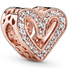 PANDORA ROSE Charm Element 788692 C01 Freehand Heart Herz Bead